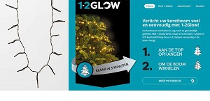 "Kerstverlichting ""hang over top"" 126 LED"
