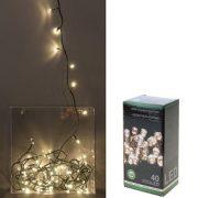 Kerstverlichting 40 LED warm wit