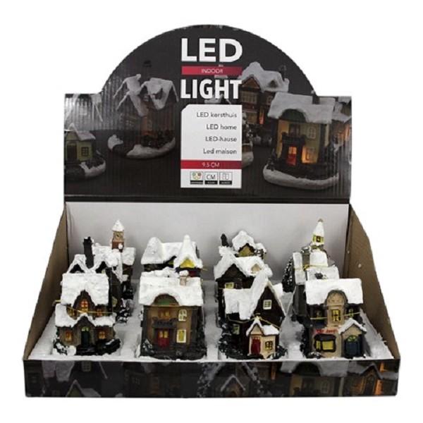 Kerst LED huis mini