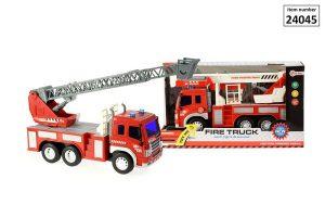 Brandweer auto met frictie