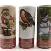 Kerst lucifers in kokertje
