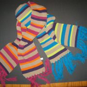 Gebreide sjaal streep
