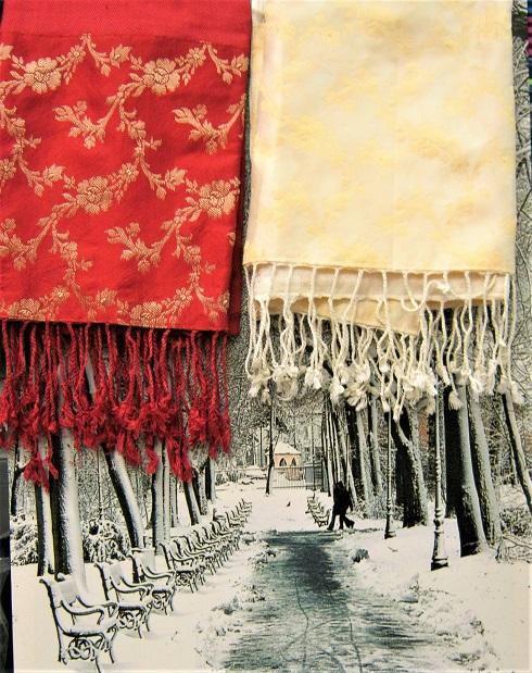 Sjaal katoen/polyester