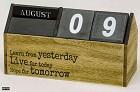 Kalender  Blokken in houten vorm