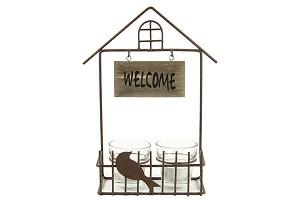 """Theelichthouder """"Welcome"""""""