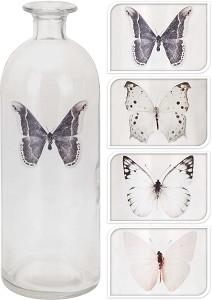 Vaas glas met Vlinder