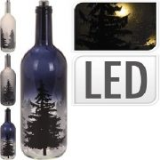 fles met LED licht