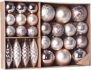 kerstballenset kunststof
