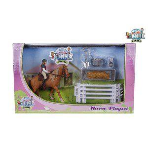 kids globe paard met ruiter