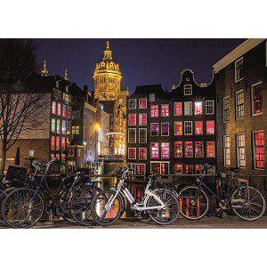 neon puzzel amsterdam bij nacht