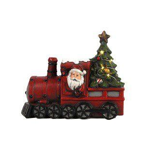 trein met kerstman LED