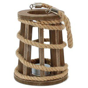 lantaarn hout met touw